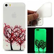Para Capinha iPhone 5 Brilha no Escuro Capinha Capa Traseira Capinha Árvore Macia TPU iPhone SE/5s/5