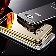 galvanizáló tükör vissza fémvázas telefon esetében Galaxy S6 / S6 él / S6 él + (vegyes színek)