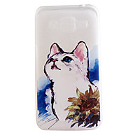 For Samsung Galaxy etui Transparent Mønster Etui Bagcover Etui Kat TPU for Samsung On 7 On 5 J7 J5 J3 J1 Grand Prime Grand Neo Core Prime