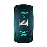 7ピンiztoss青色レーザーバックライト20Aの12Vの瞬間的な-off(オン) - スイッチウインチ(上)/アウトロッカースイッチで