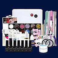 198PCS A nail phototherapy suit Phototherapy Glue Glitter Nail Nails Nursing Soak A Universal System