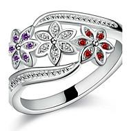 Ringen Bruiloft / Feest / Dagelijks Sieraden Sterling zilver Dames / Heren / Echtpaar Ringen voor stelletjes 1 stuks,7 / 8 / 9 Zilver