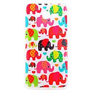 Για Samsung Galaxy Θήκη IMD tok Πίσω Κάλυμμα tok Ελέφαντας TPU Samsung J7 / J3 / J1 / E7