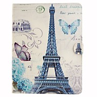 Paris Tower Coloured Drawing or Pattern PU Leather Folio Case Tablet Holster for iPad Air 2