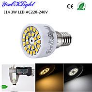 youoklight® 1stk E14 3W 24-SMD 2835 ledede spotlight 3000K varm hvid lys / 6000K hvidt lys 220lm (ac 220 ~ 240v)