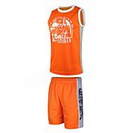 Верхняя часть / Нижняя часть / Толстовка ( Белый / Красный / Чёрный / Оранжевый ) - Муж. - Фитнес / Баскетбол - Без рукавов