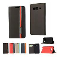For Samsung Galaxy etui Kortholder Med stativ Flip Etui Heldækkende Etui Helfarve Kunstlæder for SamsungOn 5 J7 J5 J2 J1 Ace J1 Grand