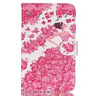Mert Samsung Galaxy tok Pénztárca / Kártyatartó / Állvánnyal / Flip / Minta Case Teljes védelem Case Szexi lány Műbőr Samsung Tab 4 7.0