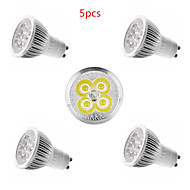 5pcs 4W GU10 / gu5.3 / E27 / E14 450lm warm / koel wit kleur licht led spot lights (85-265V)