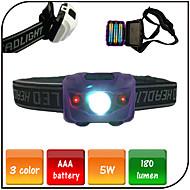 Belysning Sykkellykter LED 180 lumens Lumens 4.0 Modus LED AAA Vandtæt / NødsituasjonCamping/Vandring/Grotte Udforskning / Sykling /