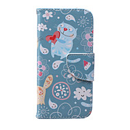 Cat Pattern PU Leather Material Phone Case for iPhone 5/5S/5C/6/6S/6Plus/6sPlus