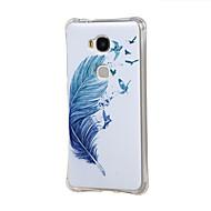 Voor Huawei hoesje Schokbestendig hoesje Achterkantje hoesje Veer Zacht TPU Huawei Huawei Y6/Honor 4A / Huawei Honor 5X