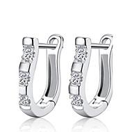 スタッドピアス クリスタル ファッション 純銀製 ラインストーン シルバー ジュエリー のために 結婚式 パーティー 日常 2 個