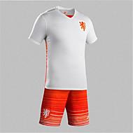 Hauts/Tops(Blanc / Orange) deFootball-mèche àDemi-manche