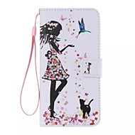 The bird girl Painted PU Phone Case for ipod touch5/6