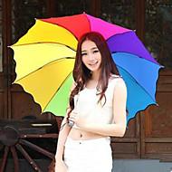 무지개 우산 접는 우산 자외선 보호 임의의 색상
