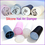 New1pc Professional Marshmallow Big Jumbo Nail Art Stamper Silicone Refill Nail Stamp Stamping Tools
