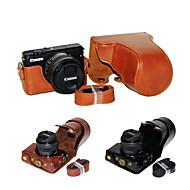 dengpin PU 가죽 카메라 케이스 가방 캐논 EOS M10를위한 어깨 끈과 15-45 렌즈 커버 (모듬 색상)