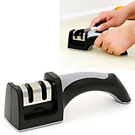 גס 2in1 2 מחדדים קרמיקה&משחיז סכינים טונגסטן פלדה קנס על כלי מספרי סכין (צבע אקראי)