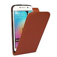 Voor Samsung Galaxy hoesje Flip hoesje Volledige behuizing hoesje Effen kleur Echt leer Samsung S6 edge plus / S6 edge / S6 / S5 / S4 / S3