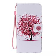 Red Tree Painted PU Phone Case for ipod touch5/6