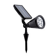 HRY® 4LEDS 200LM White Color Solar Wall Lights In-ground Lights Adjustable and Waterproof Solar Outdoor Lighting