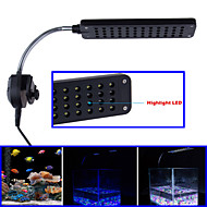 Jiawen LED Aquarium Fish Water Plant 48 LED 3W Clip White Blue Light Bulb Lamp