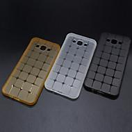 nieuwe transparante kubuspatroon TPU materiaal telefoon geval voor Samsung Galaxy J1 / J2 / J3 / J7 / J5 / on5 / on7 (diverse kleuren)