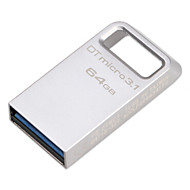 Original kingston 64gb digital dtmicro usb 3.1 / 3.0 Typ-a Metall ultrakompakte Flash-Laufwerk (dtmc3 / 100 m / s)