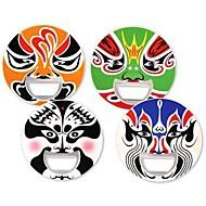 2 i 1 original kinesisk peking opera ansigtsmaske øl oplukker mærkat