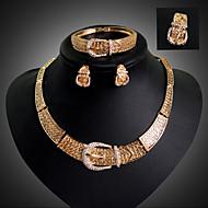 Schmuckset Modisch Luxus-Schmuck 18K Gold Imitation Diamant Geometrische Form Gold Für Party Besondere Anlässe Geburtstag
