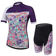 XINTOWN® Camisa com Shorts para Ciclismo Mulheres Manga CurtaRespirável / Secagem Rápida / Resistente Raios Ultravioleta / Materiais