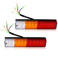 2x llevó luces traseras de freno de parada del remolque del camión barco caravana reverse indicador 12v