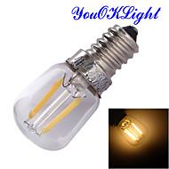 1 pièce YouOKLight E14 2W 2 COB 200 lm Blanc Chaud B edison Vintage Lampe de Décoration AC 100-240 V