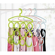 12 Hole With Scarf Tie Rack Hanger
