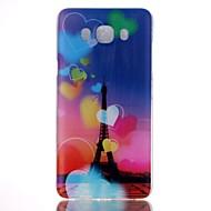 Mert Samsung Galaxy tok Minta Case Hátlap Case Eiffel torony PC Samsung J7 / J5 (2016) / J5 / J1