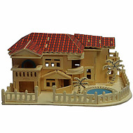 Beach House Wood 3D Puzzles Diy Toys