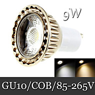 9W GU10 Focos LED Luces Empotradas 1LED COB 400 lm Blanco Cálido / Blanco Fresco Decorativa AC 85-265 V 1 pieza