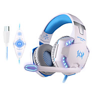 kotion hver g2200 usb 7.1 surround sound vibration spil gaming hovedtelefon computer headset med mikrofon LED lys