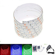 2.5M 36W 150x5050 RGB SMD LED DC12V  Waterproof Strip Light + 24Key Remote Control RGB + 12V 3A power AC100-240V