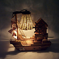 bois créatif voile musique légère Lampe décoration de bureau cadeau lampe de chambre pour enfant