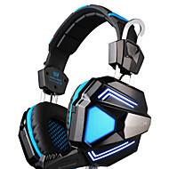 langallisia kuulokkeita (pääpanta) tietokoneella