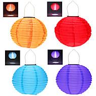"4pcs 12"" Solar Powered LED Light Chinese Hanging Lantern Lamp Lighting for Garden Yard"