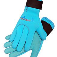 Diving Gloves Full-finger Gloves Diving Keep Warm Wearable Neoprene Unisex Black Blue M