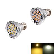 YouOKLight Lâmpadas de Foco de LED Decorativa E26/E27 7W 560 lm 3000K/6000K K Branco Quente / Branco Frio 15 SMD 5630 2 pçsAC 85-265 / AC