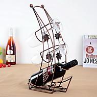 båd design vintage rent jern vin rack