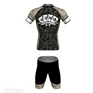 Jersey(Preto,Preto) - paraEsportes Relaxantes / Ciclismo-Unissexo-Respirável / Resistente Raios Ultravioleta / Secagem Rápida- comManga