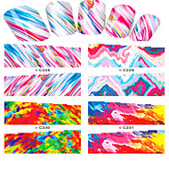 1pcs  Nail Art Water Transfer Stickers  Abstractive Image Like Flame  C228-231