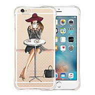Til Etui iPhone 5 Støtsikker Gjennomsiktig Mønster Etui Bakdeksel Etui Sexy dame Myk Silikon til iPhone SE/5s/5