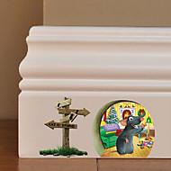 Navidad / Halloween / Novedad / Caricaturas-Colores Aleatorios-Plástico-Adhesivo de Pared-